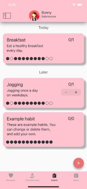 Obedience: BDSM habit tracker app for couples screenshot 7