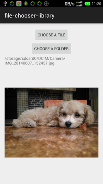File Chooser Demo for Android screenshot 6