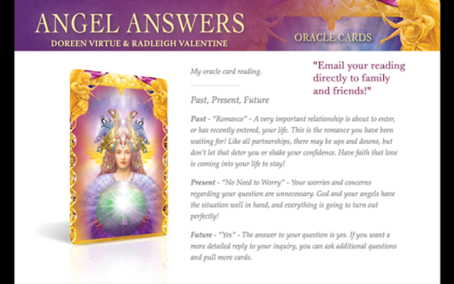 Angel Answers Oracle Cards screenshot 3