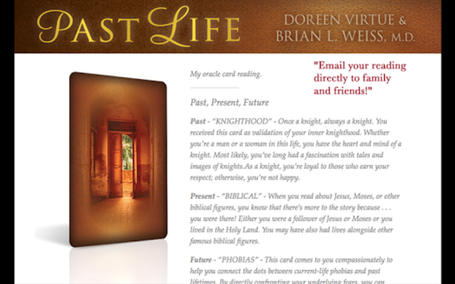 Past Life Oracle Cards screenshot 3