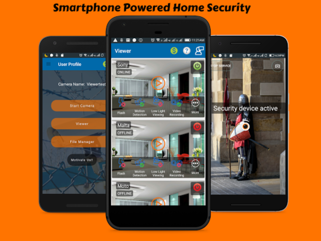 CCTV Home Security Camera Using Mobile -Odineye screenshot 1