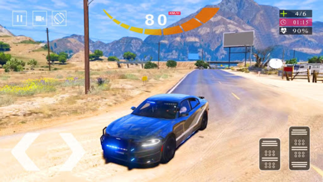 Police Car Simulator 2020 - Police Car Chase 2020 screenshot 4