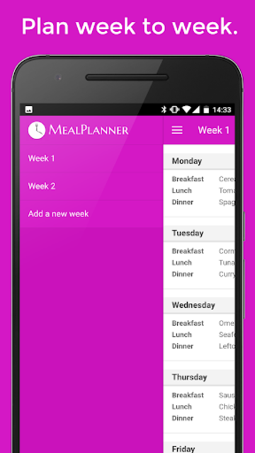 Plan Meals - MealPlanner screenshot 2