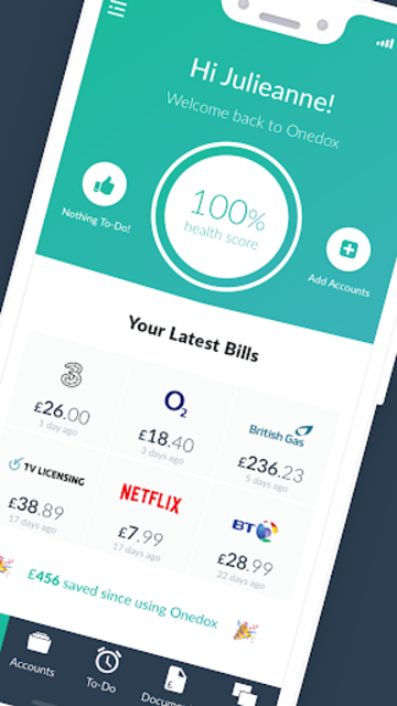 Onedox: All your household bills in one place screenshot 1