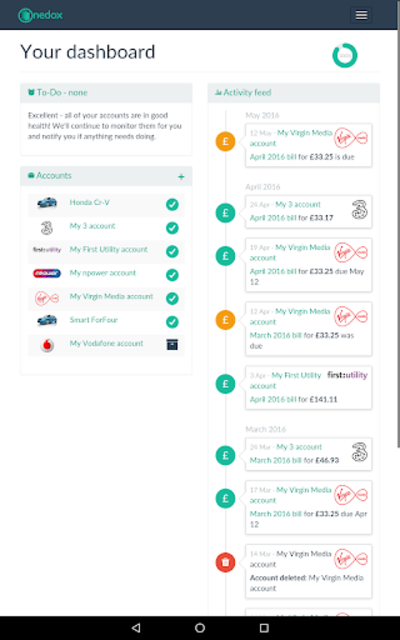 Onedox: All your household bills in one place screenshot 9