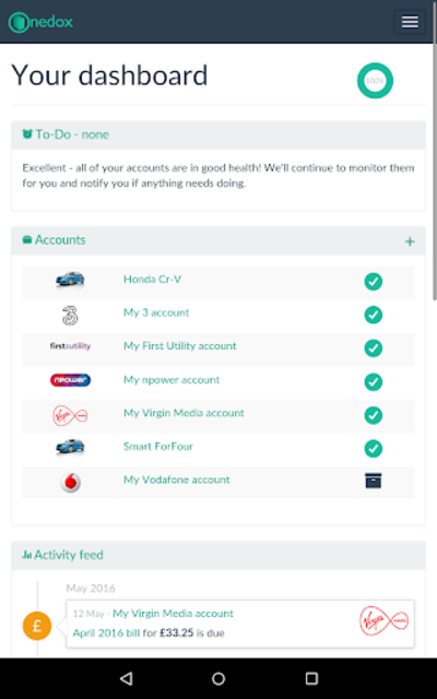 Onedox: All your household bills in one place screenshot 12