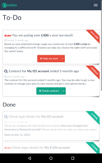 Onedox: All your household bills in one place screenshot 14