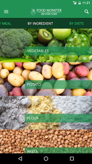 Food Monster: Vegan Recipes screenshot 2