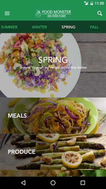 Food Monster: Vegan Recipes screenshot 3