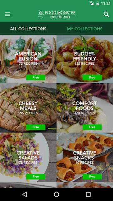 Food Monster: Vegan Recipes screenshot 4