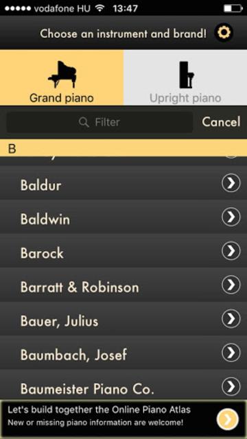 Online Piano Atlas screenshot 1