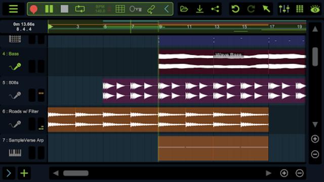 Stagelight: Audio and MIDI DAW screenshot 2