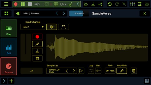 Stagelight: Audio and MIDI DAW screenshot 7