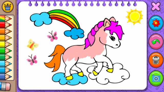 Princess Coloring Book & Games screenshot 2
