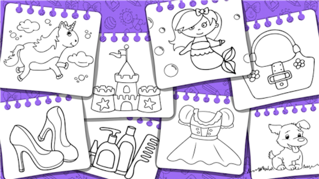 Princess Coloring Book & Games screenshot 8