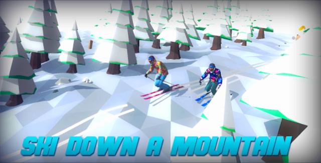 Racing in Mountain Ski 2019: Top Hill Skiing Racer screenshot 1