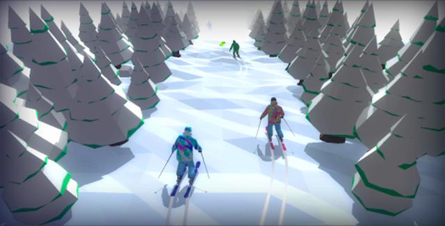Racing in Mountain Ski 2019: Top Hill Skiing Racer screenshot 2