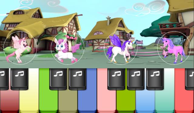 Pony Piano : Magical Colorful Piano Tiles Kids screenshot 1