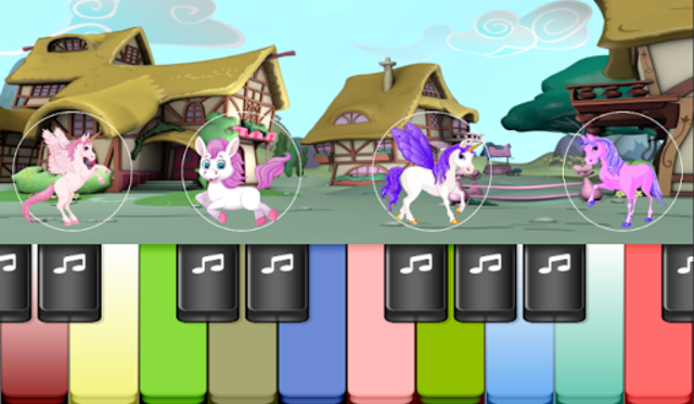 Pony Piano : Magical Colorful Piano Tiles Kids screenshot 3