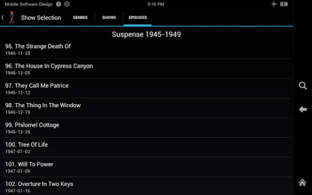 Old Time Radio Player (no ads) screenshot 8