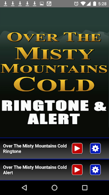 The Misty Mountains Ringtone screenshot 2