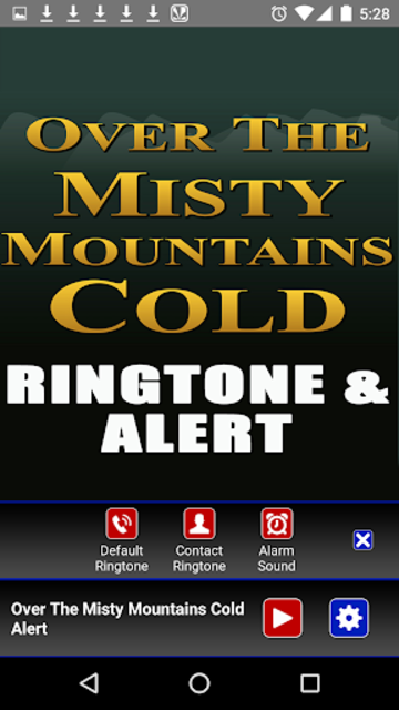 The Misty Mountains Ringtone screenshot 3