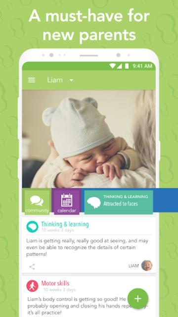 Ovia Parenting: Baby Tracker, Breastfeeding Timer screenshot 1