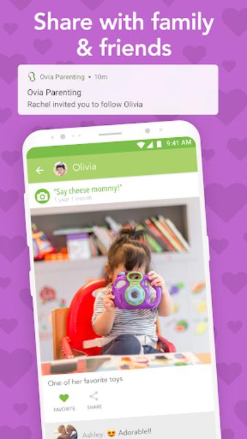 Ovia Parenting: Baby Tracker, Breastfeeding Timer screenshot 5