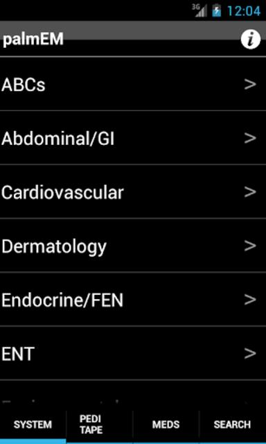 palmEM: Emergency Medicine screenshot 1