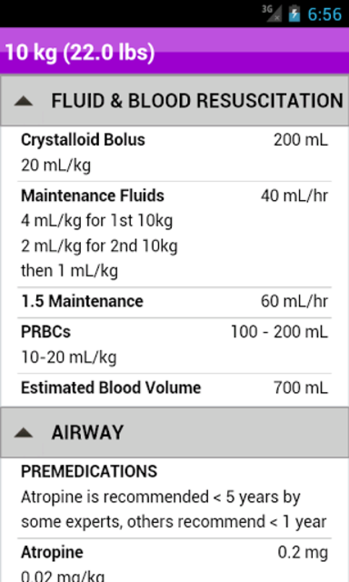 palmPEDi: Pediatric Tape screenshot 15