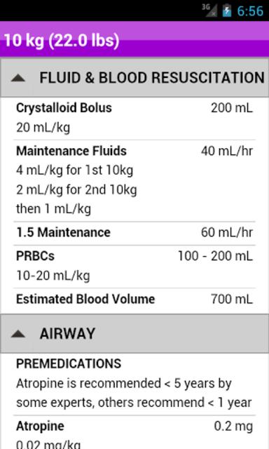 palmPEDi: Pediatric Tape screenshot 9
