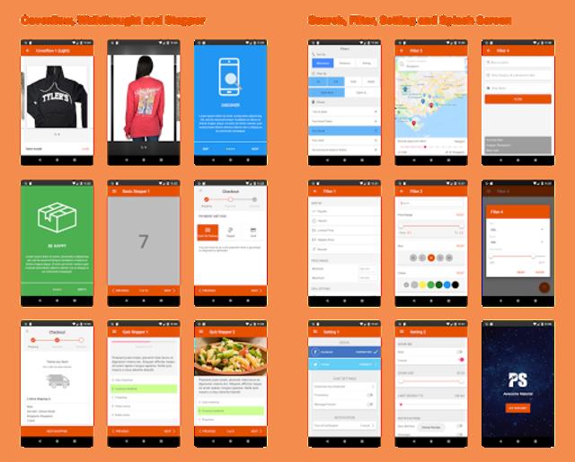 Awesome Material ( Material Design UI Template ) screenshot 3