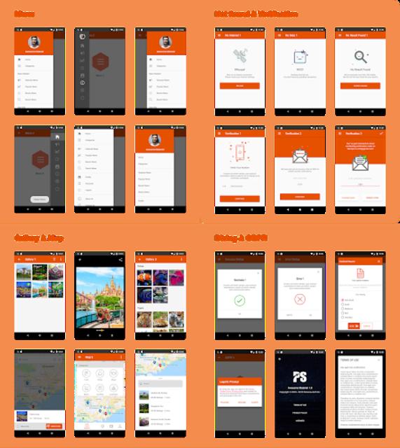 Awesome Material ( Material Design UI Template ) screenshot 4