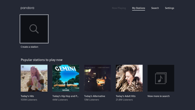 Pandora Music for TV screenshot 6