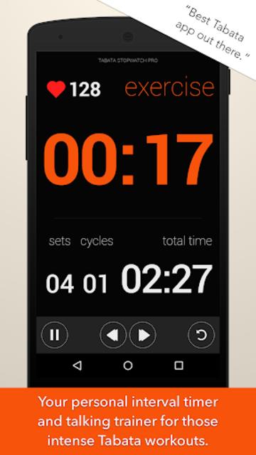 Tabata Stopwatch Pro - Tabata Timer and HIIT Timer screenshot 1