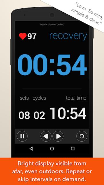 Tabata Stopwatch Pro - Tabata Timer and HIIT Timer screenshot 2