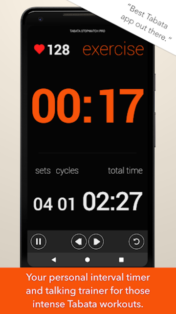 Tabata Timer and HIIT Timer for Interval Workouts screenshot 1