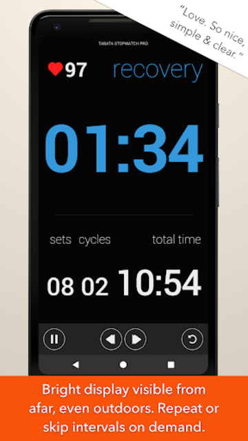 Tabata Timer and HIIT Timer for Interval Workouts screenshot 2