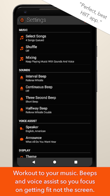 Tabata Timer and HIIT Timer for Interval Workouts screenshot 4