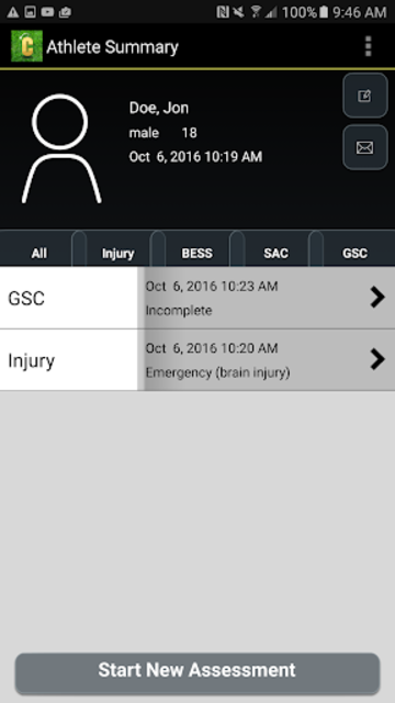 Concussion Assessment&Response screenshot 2