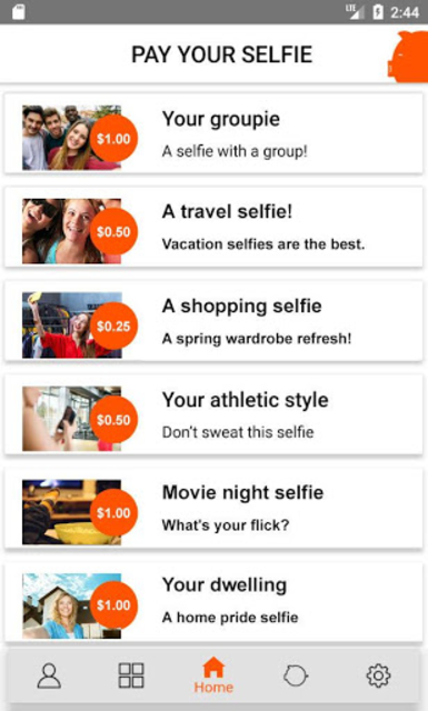 Pay Your Selfie: Selfie Cash! screenshot 2