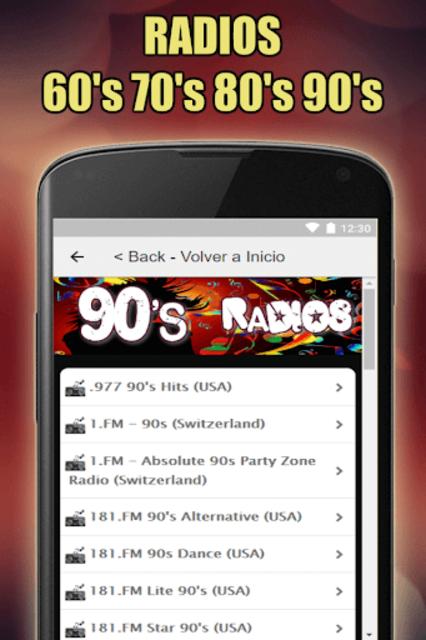 Oldies 60s 70s 80s 90s Radios. Retro Radios Free screenshot 9