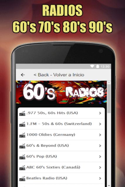 Oldies 60s 70s 80s 90s Radios. Retro Radios Free screenshot 12