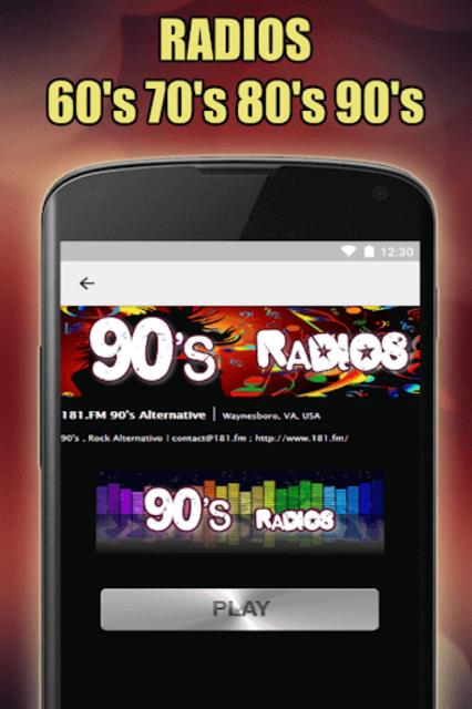 Oldies 60s 70s 80s 90s Radios. Retro Radios Free screenshot 13