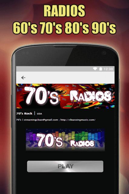 Oldies 60s 70s 80s 90s Radios. Retro Radios Free screenshot 14
