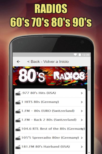 Oldies 60s 70s 80s 90s Radios. Retro Radios Free screenshot 3