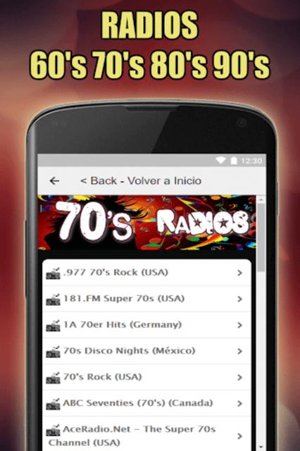 Oldies 60s 70s 80s 90s Radios. Retro Radios Free screenshot 4