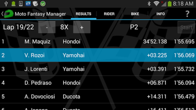 Moto Racing Manager GP screenshot 1