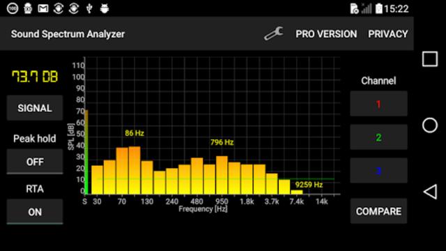 Sound Spectrum Analyzer PRO screenshot 1