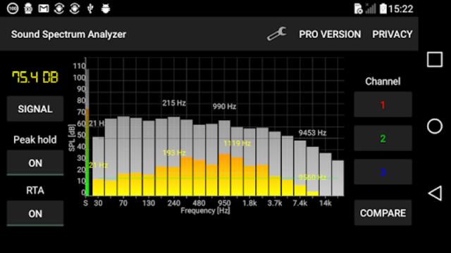 Sound Spectrum Analyzer PRO screenshot 2